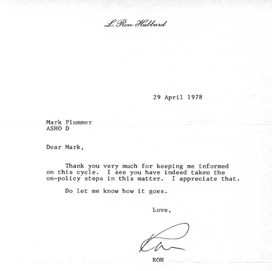 My Letters From L Ron Hubbard And Others