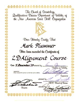 Computer Course Completion Certificate Sample. My Scientology Certificates  Awards And Sea Org Contracts .  Computer Course Completion Certificate Format